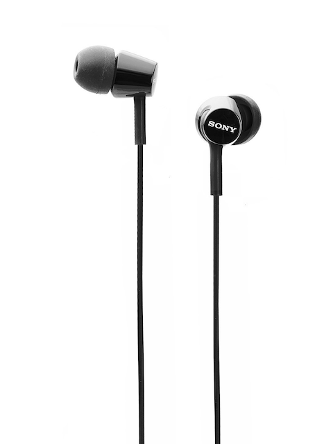 Sony Black Wired In-Ear Headphones with Mic MDREX155APBQIN