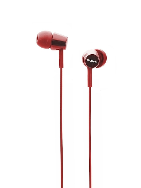 Sony Red Wired In-Ear Headphones with Mic MDREX155APRQIN