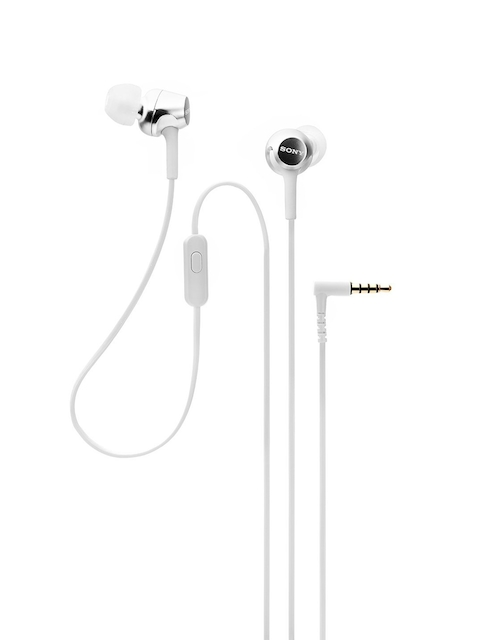 Sony White In-Ear Headphones With Mic MDREX255APWQIN