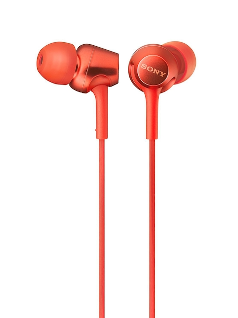 Sony Red Wired In-Ear Headphones with Mic MDREX255APRQIN
