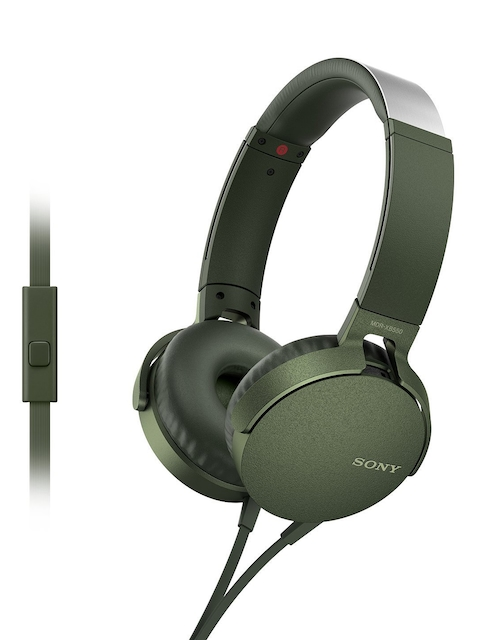 Sony Unisex Olive Green EXTRA BASS Over-Ear Headphones MDRXB550APGCIN