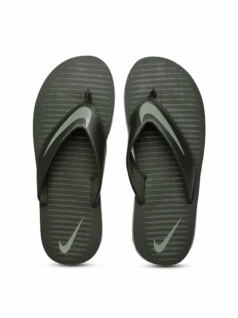 Nike Men Olive Green Printed CHROMA THONG 5 Flip-Flops