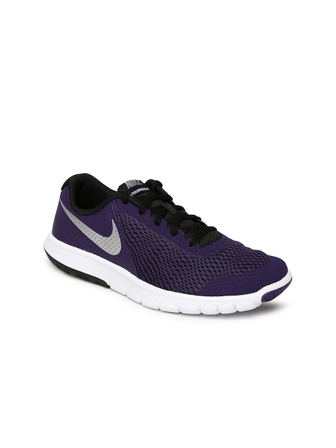 Nike Girls Purple FLEX EXPERIENCE 5 (GS) Running Shoes
