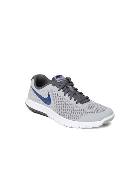 Nike Boys Grey FLEX EXPERIENCE 5 (GS) Running Shoes