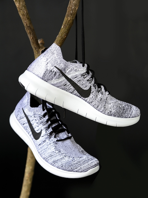Nike Men Grey FREE RN FLYKNIT 2017 Running Shoes