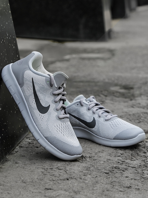 Nike Boys Grey FREE RN 2017 (GS) Running Shoes  available at myntra for Rs.3837
