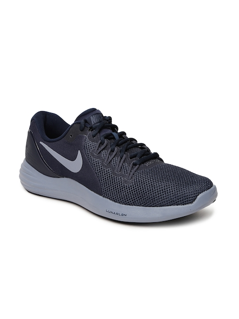 Nike Men Navy LUNAR APPARENT Running Shoes
