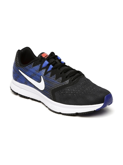 Nike Men Black & Blue ZOOM SPAN 2 Running Shoes
