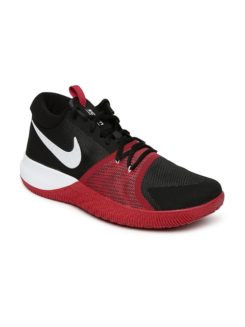 Nike Men Black ZOOM ASSERSION Mid-Top Basketball Shoes