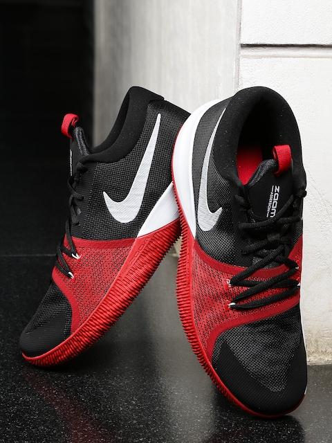 6bc27b25eb83 Nike Men Black ZOOM ASSERSION Mid-Top Basketball Shoes