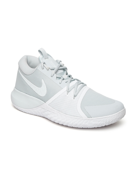 Nike Men Grey ZOOM ASSERSION Mid-Top Basketball Shoes