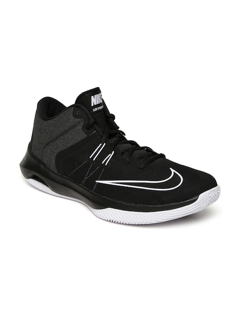 Nike Men Black AIR VERSITILE II Mid-Top Basketball Shoes