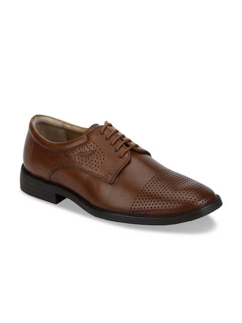 Park Avenue Men Brown Genuine Leather Brogues