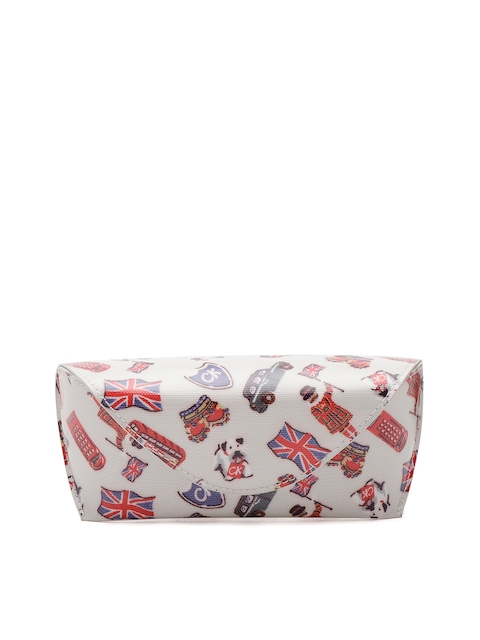 Cath Kidston Women Off-White & Red Printed Spectacle Case