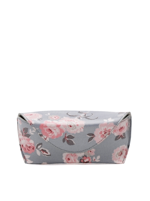 Cath Kidston Women Grey & Coral Pink Floral Print Spectacle Case