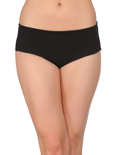 Clovia Women Black Hipster Briefs PN1858P13XXL