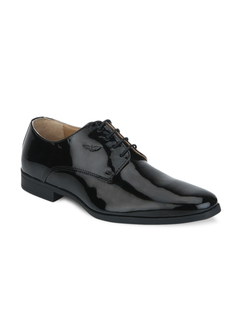 Park Avenue Men Black Leather Derbys