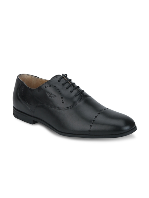 Park Avenue Men Black Leather Oxfords
