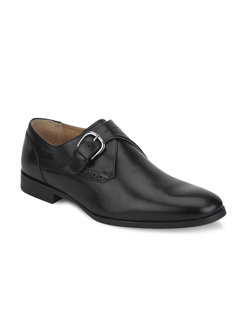 Park Avenue Men Black Leather Monks