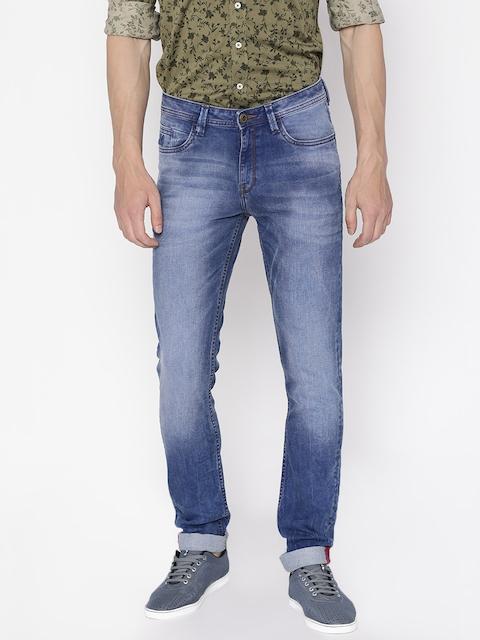 Arrow Blue Jean Co. Men Blue Skinny Fit Clean Look Stretchable Jeans