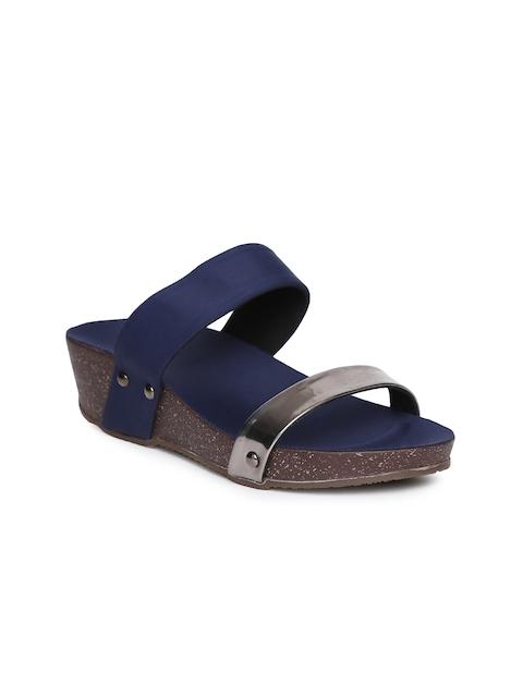 Inc 5 Women Navy Blue Colourblocked Sandals