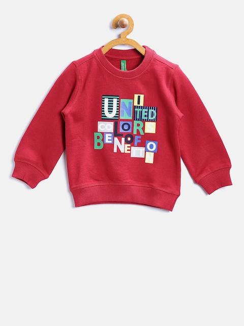 United Colors of Benetton Boys Red Printed Sweatshirt