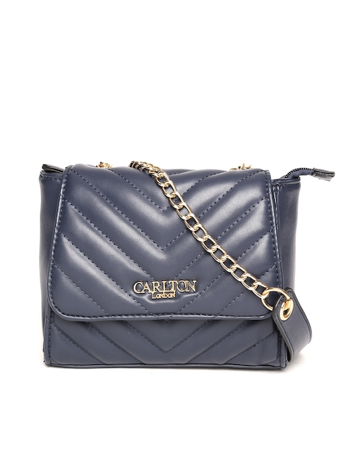 Carlton London Navy Quilted Sling Bag