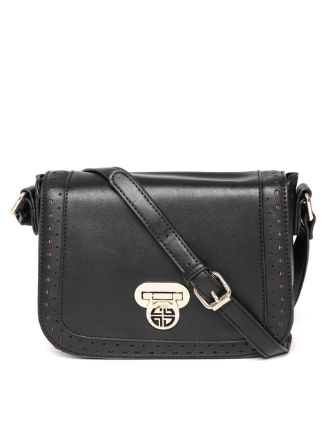 Carlton London Black Solid Sling Bag