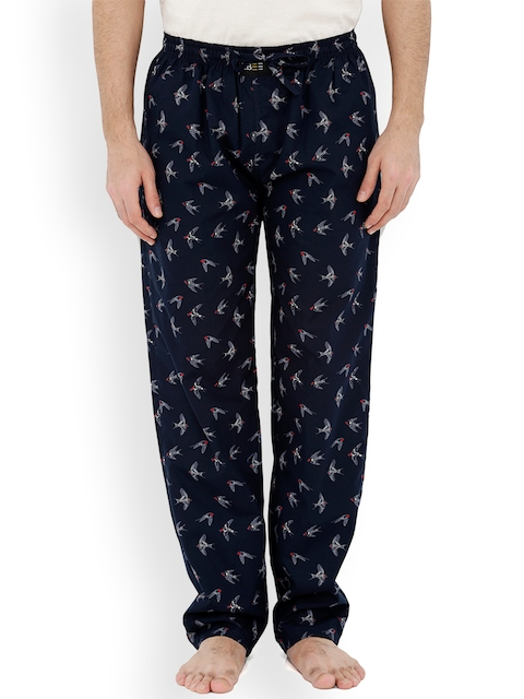 London Bee Men Navy Printed Pyjamas MPLB0095