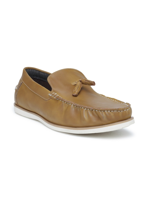 San Frissco Men Tan Brown Tassel Loafers