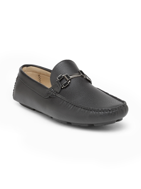 San Frissco Men Black Horsebit Loafers