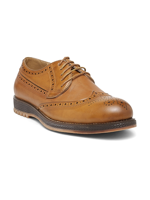 San Frissco Men Tan Brown Brogues