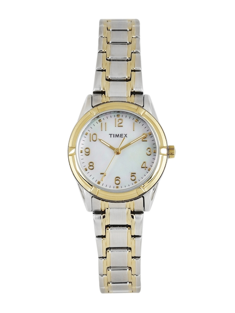 Timex Women Off-White Mother of Pearl Analogue Watch TW2P76100