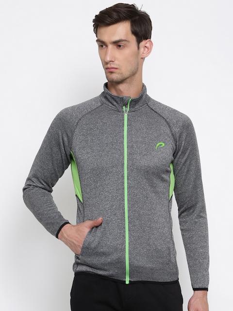 Proline Active Men Grey Melange Solid Sweatshirt