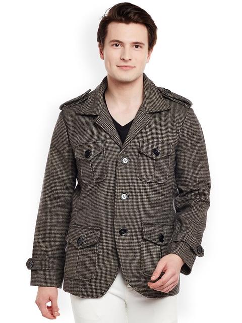 BARESKIN Men Grey Solid Lightweight Duster Jacket