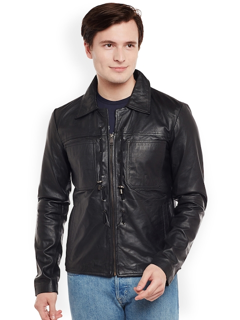 BARESKIN Men Black Solid Lightweight Duster Jacket