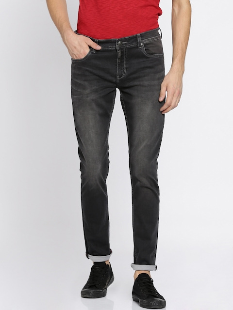 Lee Cooper Men Black Skinny Fit Low-Rise Clean Look Stretchable Jeans