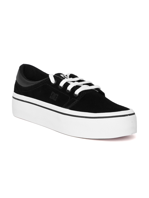 DC Women Black Suede Sneakers