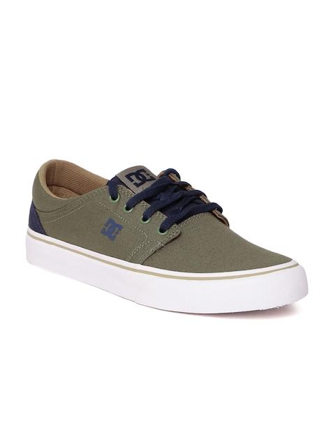 DC Men Olive Green Sneakers