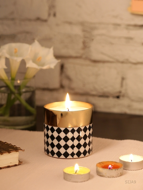 HOME DECOR INDIA Gold-Toned Candle
