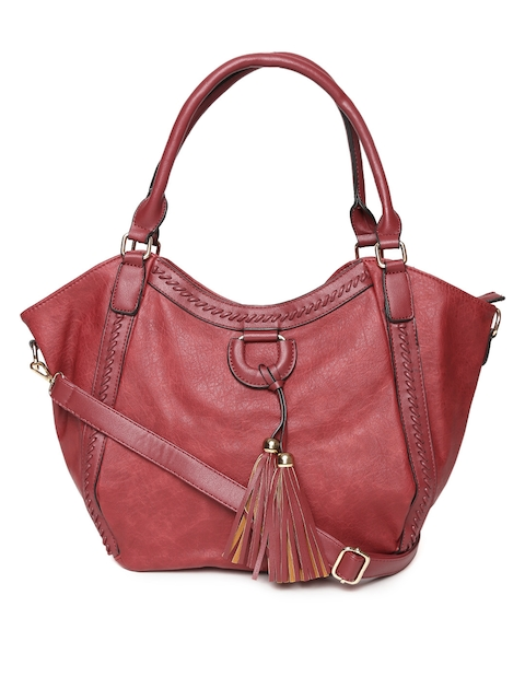 red pout Red Solid Shoulder Bag with Detachable Sling Strap