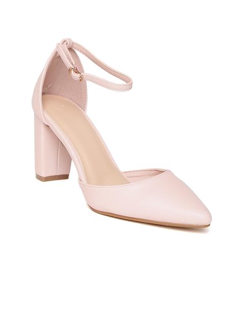 Allen Solly Women Peach-Coloured Solid Heels