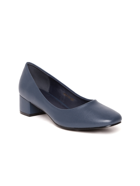 Allen Solly Women Navy Blue Solid Pumps