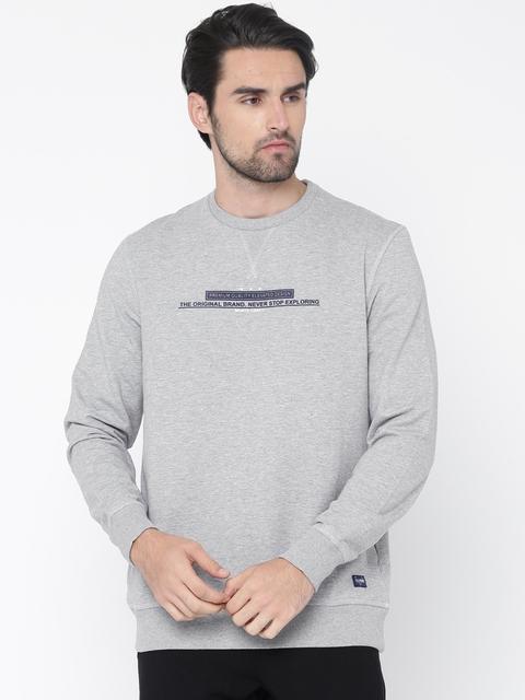 Monte Carlo Men Grey Printed Sweatshirt