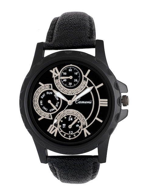 Camerii Men Black Analogue Watch WM205