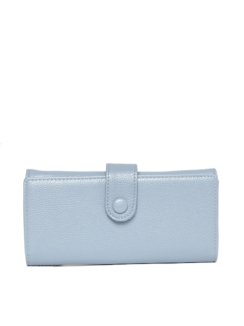 Lisa Haydon for Lino Perros Women Blue Solid Three Fold Wallet