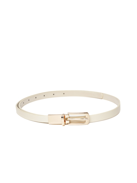 Lino Perros Women Off-White Solid Belt