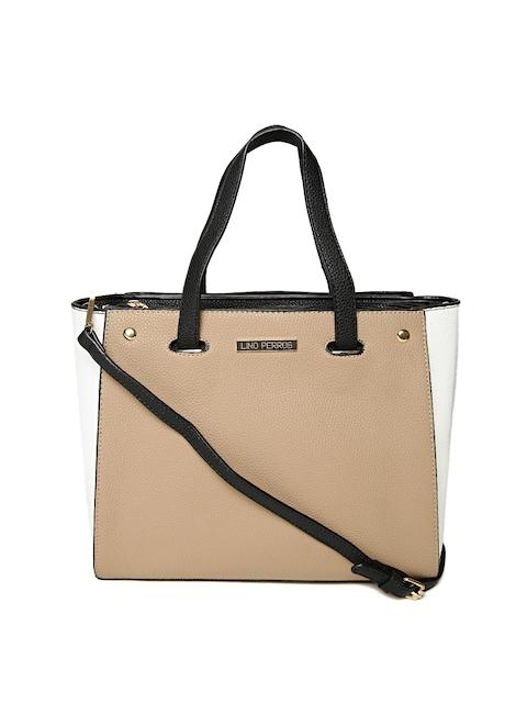 Lisa Haydon for Lino Perros Beige & White Handbag