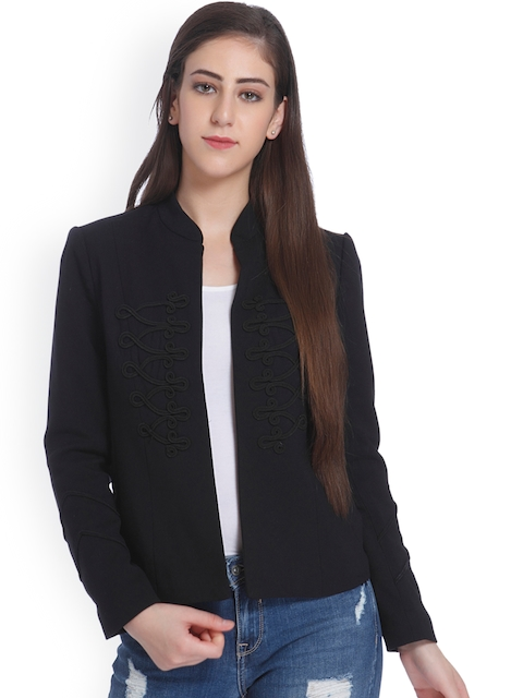 ONLY Black Self-Design Casual Blazer