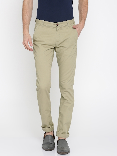 Arrow Sport Men Beige Chrysler Tapered Fit Solid Chinos